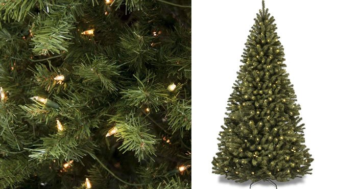 6-Foot Pre-Lit Spruce Artificial Christmas Tree ONLY $71