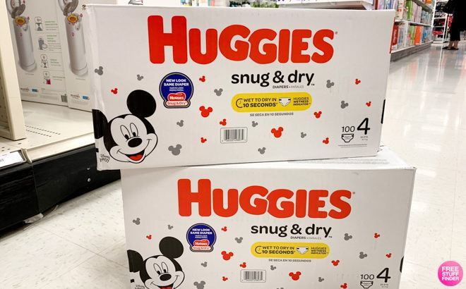 Huggies Snug & Dry Diapers 160-Pack for $35.76 + FREE Shipping (22¢ per Diaper)