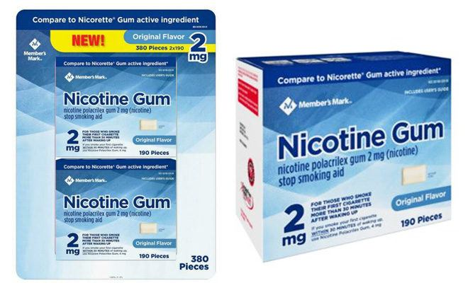 Member's Mark Nicotine Gum 380-Count ONLY $45.98 at Sam's Club - Just 12¢ Each!