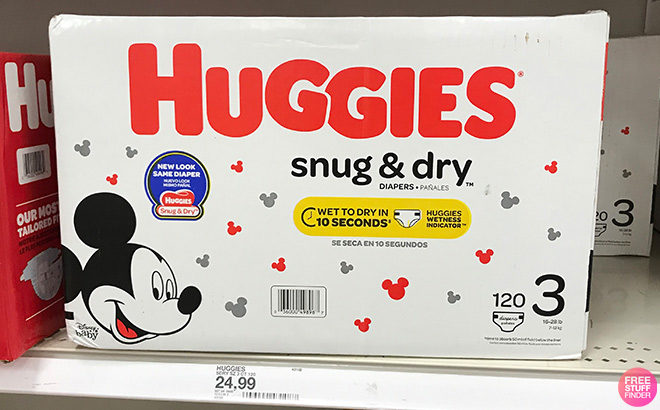 Huggies Snug & Dry Super Pack Diapers JUST $15.66 Each at Target (Reg $25)