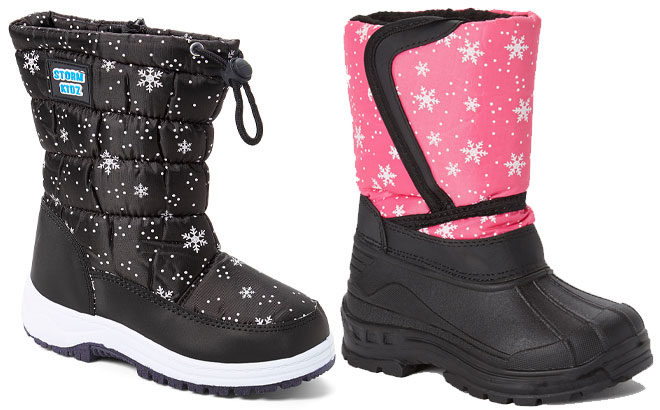 Kids' Snow Boots for ONLY $13.99 at Zulily (Regularly $60)