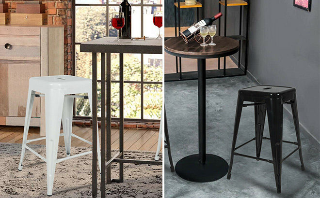 Metal Counter Stools 4-Pack JUST $85.49 + FREE Shipping (Reg $171) - Today Only!