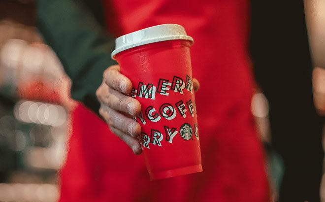 FREE Starbucks Holiday Reusable Cup with Holiday Drink Purchase (Today Only!)
