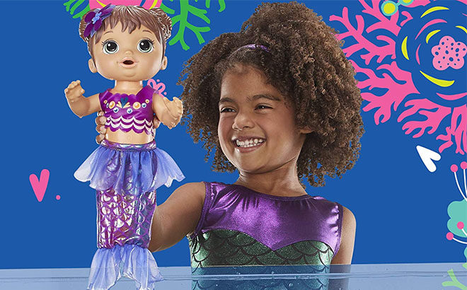 Baby Alive Shimmer N Splash Mermaid Doll ONLY $11.97 (Regularly $20) - So Cute!