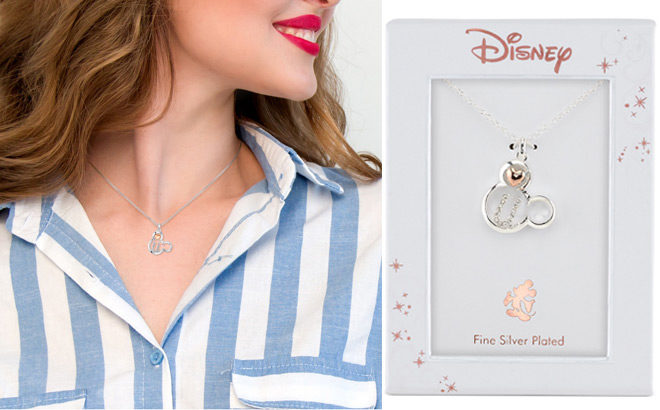 Mickey Mouse Initial Pendant Necklace for ONLY $17.99 at Macy's (Reg $60)