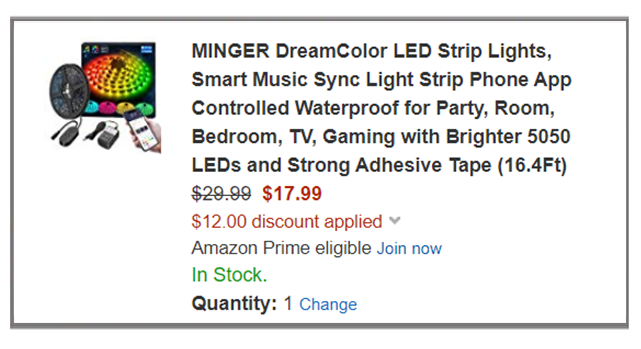 16 Feet Led Color Changing Strip Lights Just 17 99 At