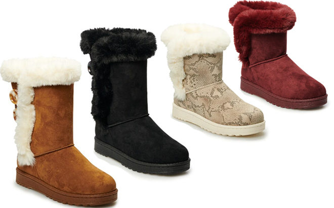 Faux-Fur Boots JUST $23.99 at Kohl's (Regularly $60) - Cyber Monday Deals!