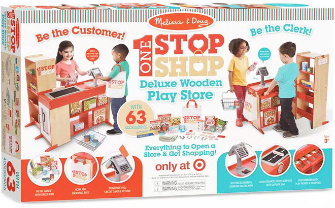 Melissa & Doug Deluxe Wooden Play Store Set ONLY $106.24 at Target (Regularly $180)