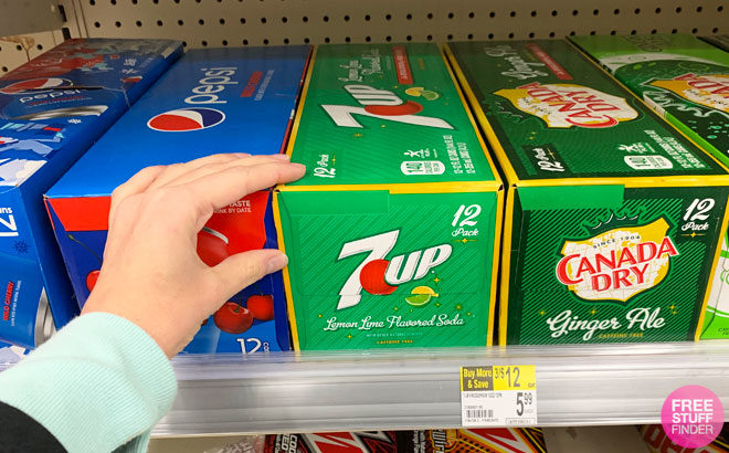 7UP 12-Packs Soda for ONLY $3.50 Each at Walgreens (Reg $6) - Just Use Your Phone!