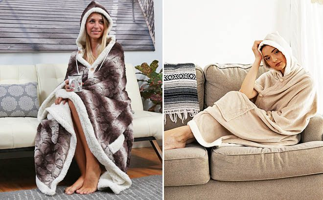 Hooded Snuggle Blanket ONLY $19.99 at Zulily (Reg $72) - So Many Designs!