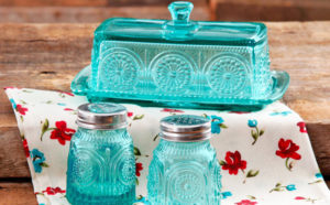 The Pioneer Woman Butter Dish with Salt & Pepper Shaker Set ONLY $10.99 (Reg $20)