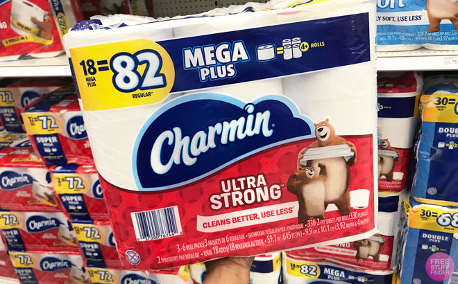 Charmin Ultra Strong Toilet Paper 18 Mega Rolls ONLY $18.29 Each at Amazon (Reg $27)