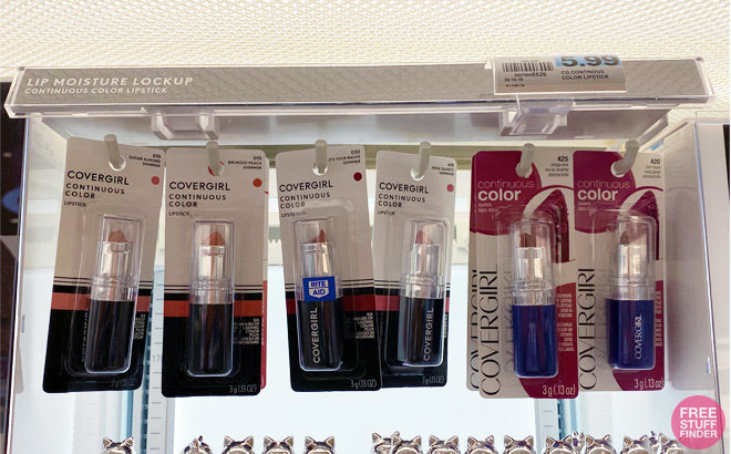 8 FREE CoverGirl Lipstick, Blush, Brow & Eyemakers at Rite Aid + $1.03 Moneymaker