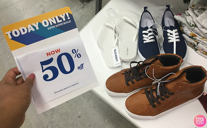 Old Navy Footwear for the Family 50% Off - Starting at JUST $2 (Today Only!)
