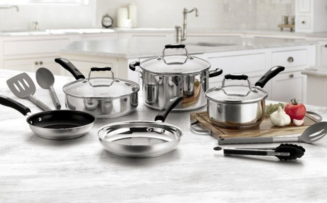 Cuisinart 12-Piece Cookware Set ONLY $79.99 + FREE Shipping (Reg $300) – Today Only!