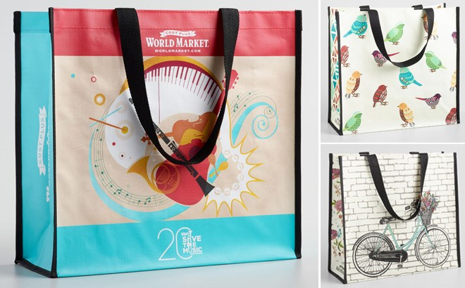 FREE Large Reusable Tote Bag for Cost Plus World Market Members – Today Only!