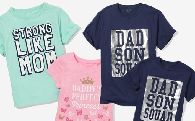 Up to 90% Off The Children's Place Matching Tees (From JUST $1.99 + FREE Shipping)