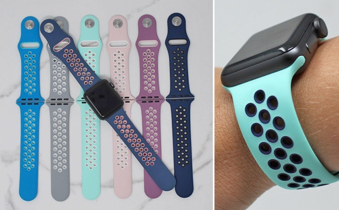 Apple Watch Sports Bands for ONLY $8.99 + FREE Shipping (Regularly $20) - 29 Colors!