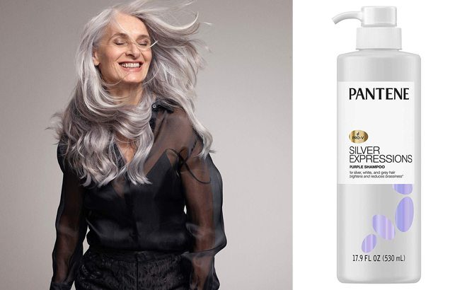 Pantene Silver Expressions Purple Shampoo 17.9-Ounce ONLY $8.79 (Reg $15)