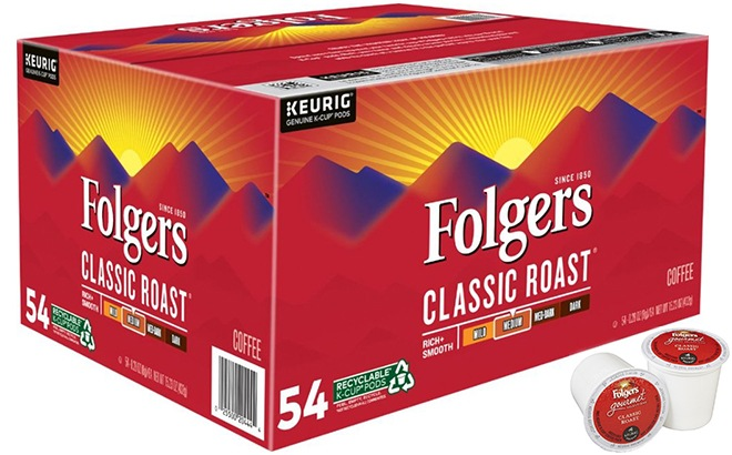 Folger's Coffee Pods 54-Pack ONLY $19.99 (Regularly $40) - Today Only!