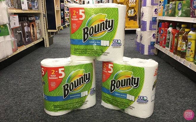 Bounty Double Plus 2-Pack Paper Towels ONLY $6 + FREE Shipping at Walgreens.com