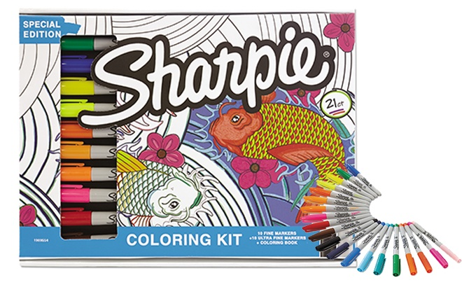 Sharpie Deep Sea Collection Coloring Kit ONLY $16.18 (Regularly $42)