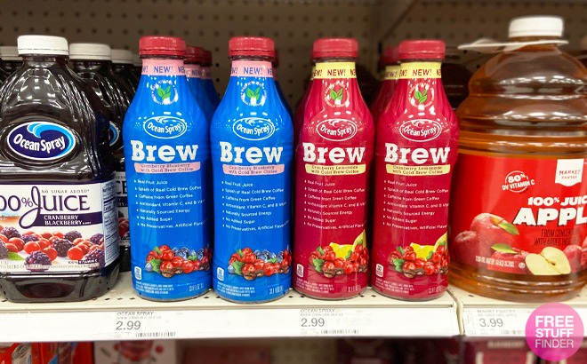 Ocean Spray Brew ONLY $1.50 at Target (Regularly $3) – Load Offer Now!