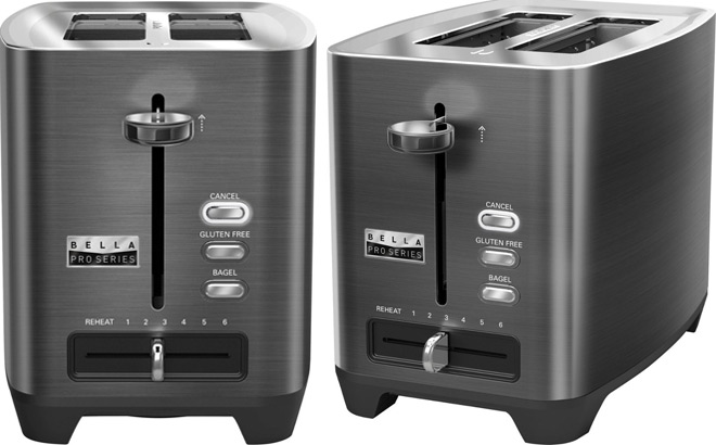 Bella Pro Series 2-Slice Extra-Wide-Slot Toaster ONLY $24.99 at Best Buy (Reg $50)