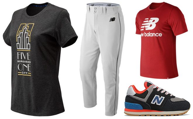 New Balance Apparel & Shoes for the Family From JUST $7.50 + FREE Shipping (Reg $30)