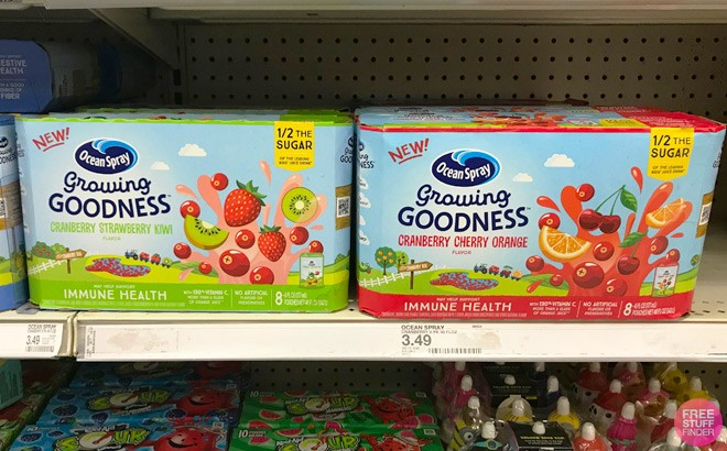 Ocean Spray Growing Goodness 8-Pack ONLY $1.75 at Target (Reg $3.49) - Load Offer!