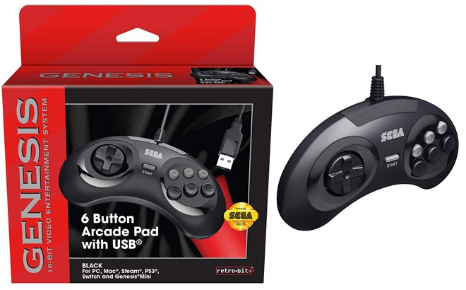 Retro-Bit SEGA Genesis 6-Button Arcade Pad for ONLY 9.99 at Best Buy (Reg $20)