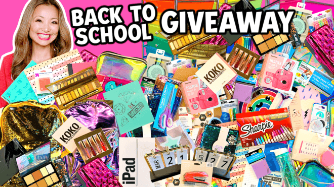 BIGGEST Back to School GIVEAWAY 2020 (Win FREE iPad, Makeup, School Supplies)