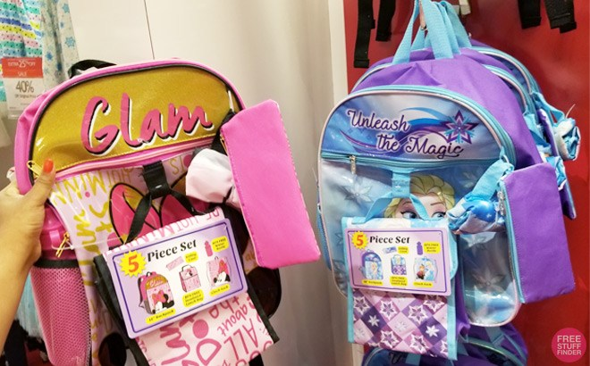Kids Character 5-Piece Sets Backpacks for ONLY $16.99 at Macy's (Regularly $40)