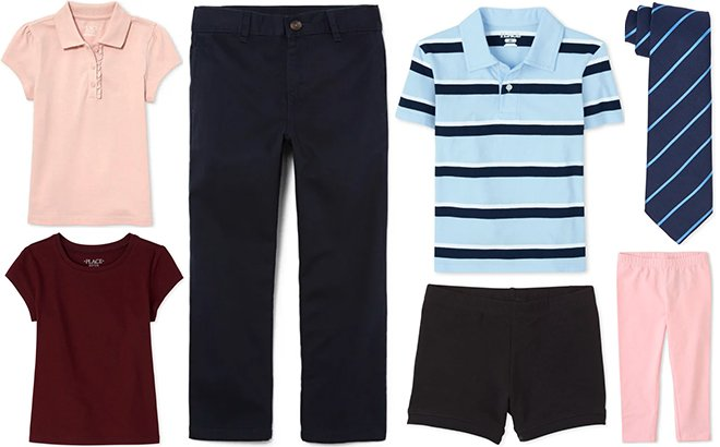 Children's Place Kids' Uniform Apparel Up To 60% Off + FREE Shipping - From JUST $3.97!