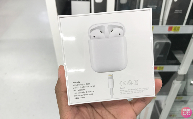 Apple AirPods with Wired Charging Case ONLY $129 + FREE Shipping (Reg $159)