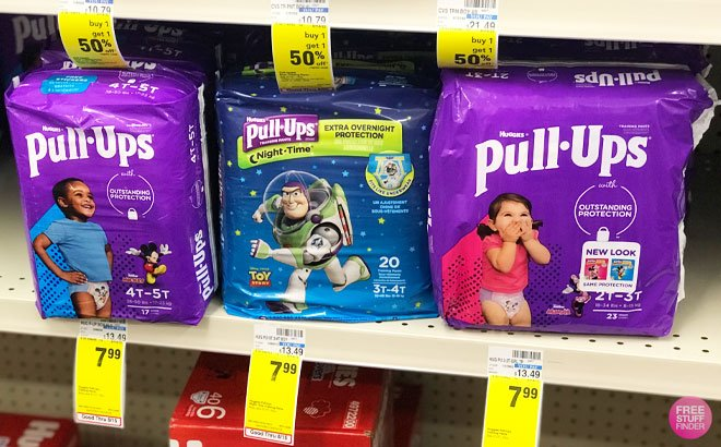 Huggies Pull-Ups Jumbo Pack (18-25 ct) for ONLY $4.99 at CVS (Regularly $8)