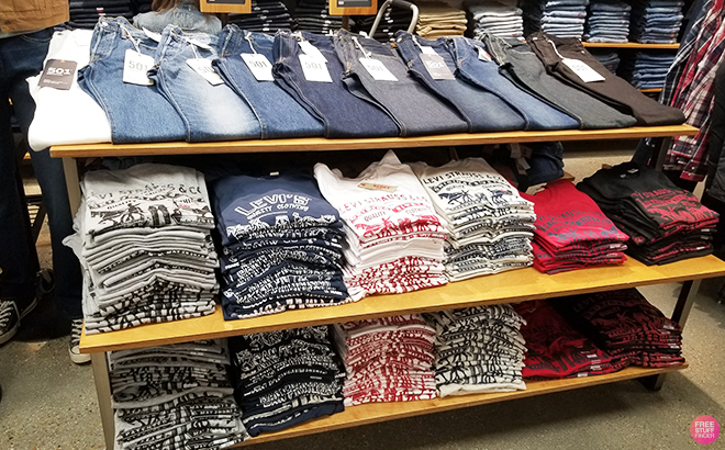 Levi's Apparel for the Whole Family Starting at ONLY $6.97 + FREE Shipping (Reg $18)