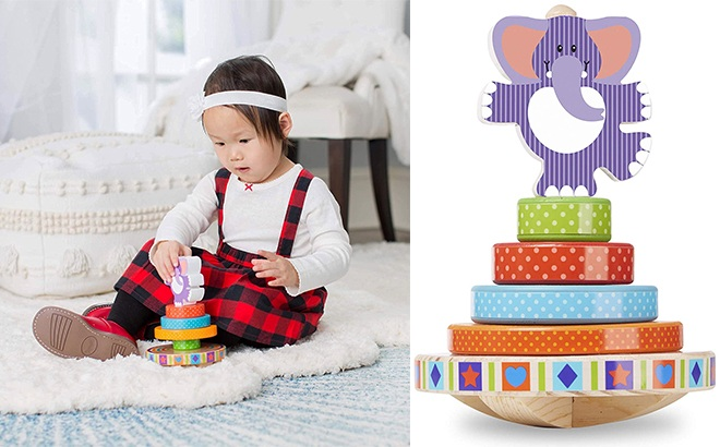 Melissa & Doug First Play 6-Piece Wooden Rocking Stacker ONLY $7 (Regularly $13)