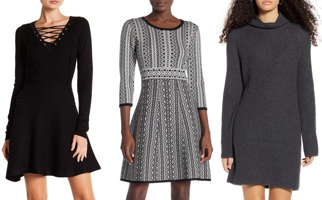 Women's Sweater Dresses Up to 65% Off at Nordstrom Rack - From $19.97 (Reg $59)!