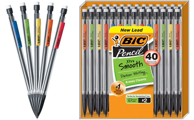 BIC Xtra Smooth Mechanical Pencils 40 Pack JUST $5.97 at Walmart (Regularly $9)