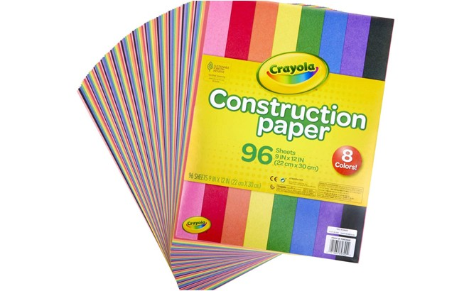 Crayola Construction Paper 96 Sheets for ONLY $3.39 at Amazon (Regularly $11)