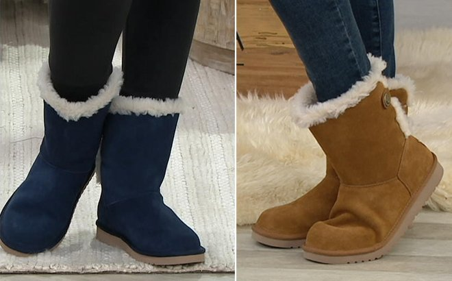 Koolaburra by UGG Suede Button Short Boots for JUST $71 + FREE Shipping