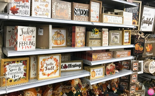 Fall & Thanksgiving Home Decor Starting at ONLY $6 + FREE Store Pickup (Reg $15)