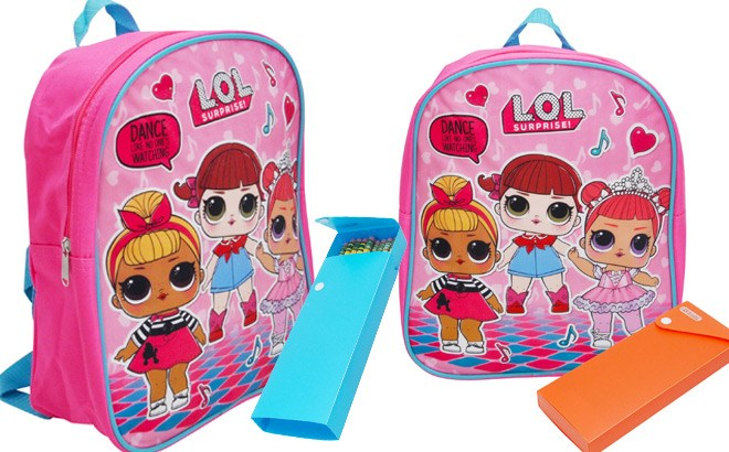L.O.L. Surprise! Backpack & Pencil Case Set for ONLY $14 + FREE Shipping (Reg $33)