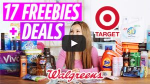 VIDEO: 17 FREEBIES & Deals at Target and Walgreens This Week (10/13 – 10/19)