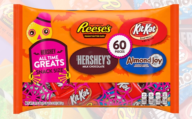 Hershey's Halloween Candy 60-Count for $2