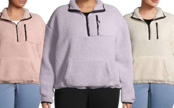 Sherpa Plus Size Pullover JUST $7.99