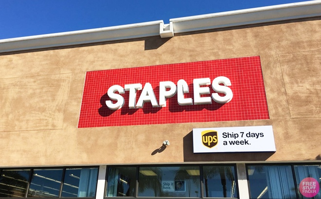 $20 Off $100 + FREE Shipping at Staples