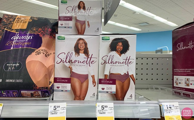Depend Silhouette 4-Count 2 for $4 - That's $2 Each!