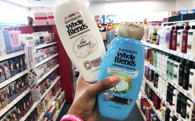 TWO FREE Garnier Whole Blends Hair Care + $1 Moneymaker!